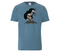 T-Shirt Der Kleine Maulwurf blau