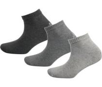 3er Pack Sneaker Socken grau