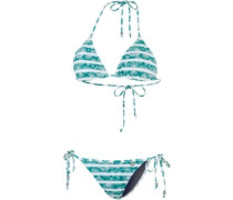 Coloured Tribe Triangelbikini blau / grün