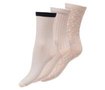 3er Pack Metallic Socke rosa