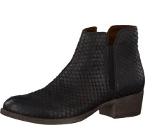 Chelsea Boots in Schlangenleder-Optik schwarz
