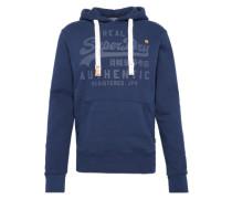 Sweatshirt 'vintage Authentic Tonal Hood' navy