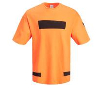T-Shirt orange / schwarz