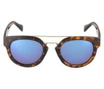 Sonnenbrille 'Alana' im Havana-Look blau / dunkelbraun