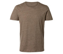 Pima-Baumwoll T-Shirt braun