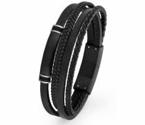 Armband '2018696' schwarz / silber
