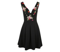 Cocktail-Kleid mit Blumenstickerei hellgrün / rosa / dunkelpink / schwarz