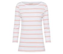 T-Shirt mit Streifen rosa / weiß