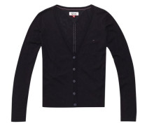 Strickjacke 'thdw Basic Cardigan L/S 1' schwarz
