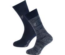 Jonte 2 Paar Socken blau / blaumeliert