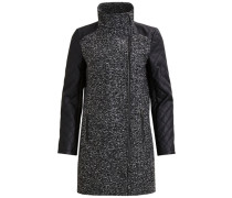 Hochgeschlossener Mantel schwarz