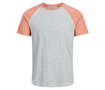T-Shirt grau / orange