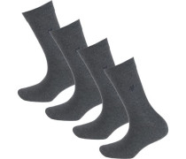 Ida 4 Paar Socken graumeliert