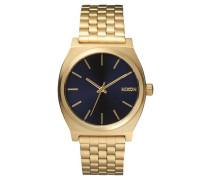 Armbanduhr 'Time Teller' dunkelblau / goldgelb
