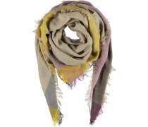 Tuch 'Trinita' camel / blau / gelb / rosa