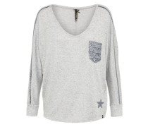 Pullover 'wls' graumeliert