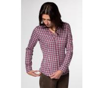 Langarm Bluse für grosse Frauen dunkelblau / rot / weiß