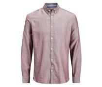 Formelles Slim-Fit-Langarmhemd rot