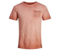 Blumentaschen-T-Shirt rot / rostrot