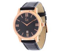 Armbanduhr gold / schwarz
