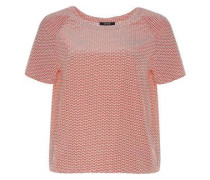 Shirtbluse 'Fiana' rot / weiß