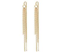 Ohrringe Ear Chain gold / goldgelb