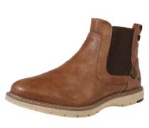 Chelsea Boot in Lederoptik braun