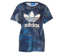 T-Shirt mit Logo-Print blau
