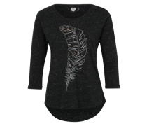 Longsleeve 'Feather Grid' schwarz