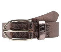 Gürtel im Metallic-Look taupe / silber