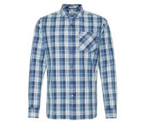 Hemd 'Lior' blau / weiß