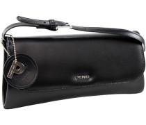 Berlin Umhängetasche Leder 29 cm schwarz