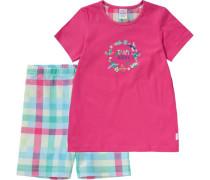 Schlafanzug türkis / mischfarben / pink