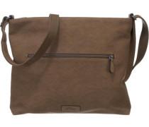 Handtasche braun / grau