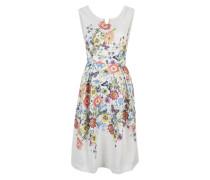 Jaquard-Kleid mit Muster weiß / mischfarben