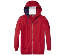 Hilfiger Denim Sweatshirt »Thdw HD ZIP Hknit L/S 17« blau / rot / weiß