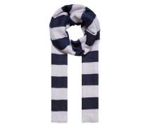 Blockstreifen-Schal blau / weiß