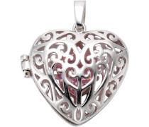 Anhänger Medaillon »Herz« mit Zirkonia silber