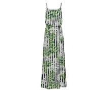 Kleid 'nova' grün / schwarz / weiß