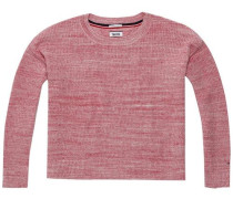 Pullover 'thdw Basic CN Sweater L/S 18' pastellrot
