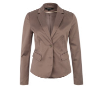 Blazer in Glanz-Optik taupe