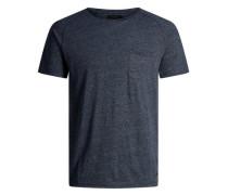 Gewaschenes T-Shirt blaumeliert