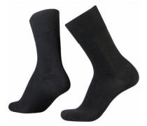 Socken (2 Paar) Wool-Cotton schwarz