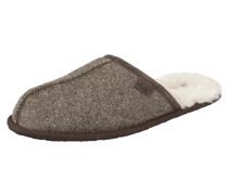 Hausschuh »Scuff Tweed« beige / braun