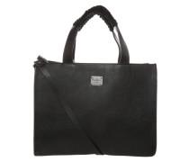 Handtasche mit geknoteten Details aus Leder schwarz