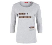 Statement-Shirt aus Flammgarn grau