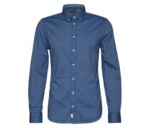 Button-Down Hemd hellblau / dunkelblau