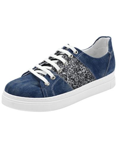 Andrea Conti Damen Sneaker blue denim