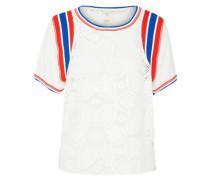 T-Shirt 'Mimi Tee' royalblau / hellrot / weiß