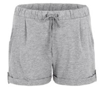 Melierte Sweat-Shorts grau